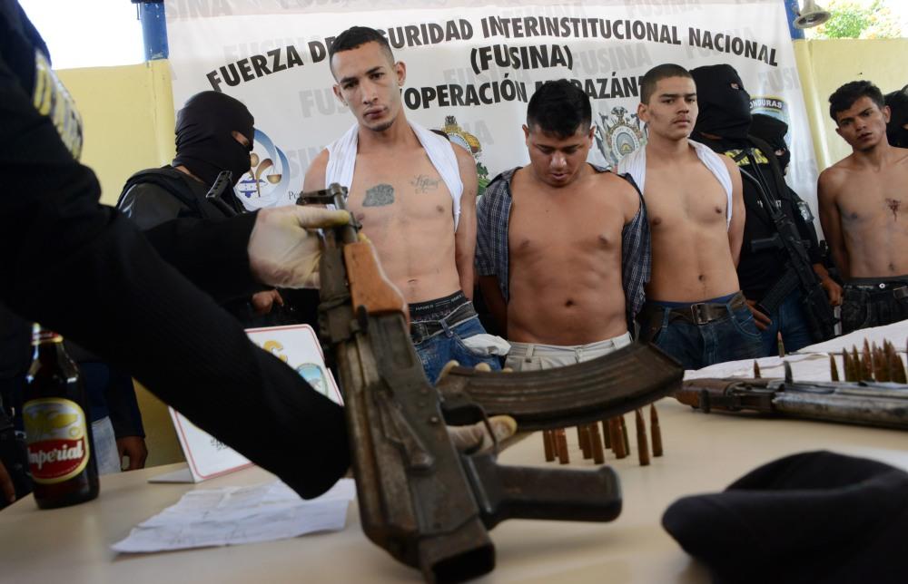 HONDURAS-CRIME-VIOLENCE-GANGS-MARA 18-CALAVARA-ARREST