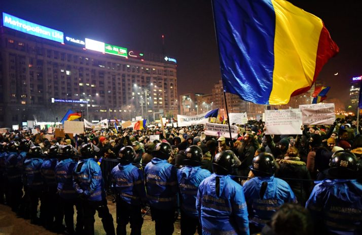 ROMANIA-CORRUPTION-PROTEST