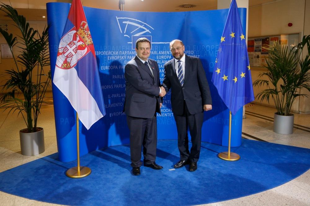 Martin SCHULZ, EP President, Ivica DACIC
