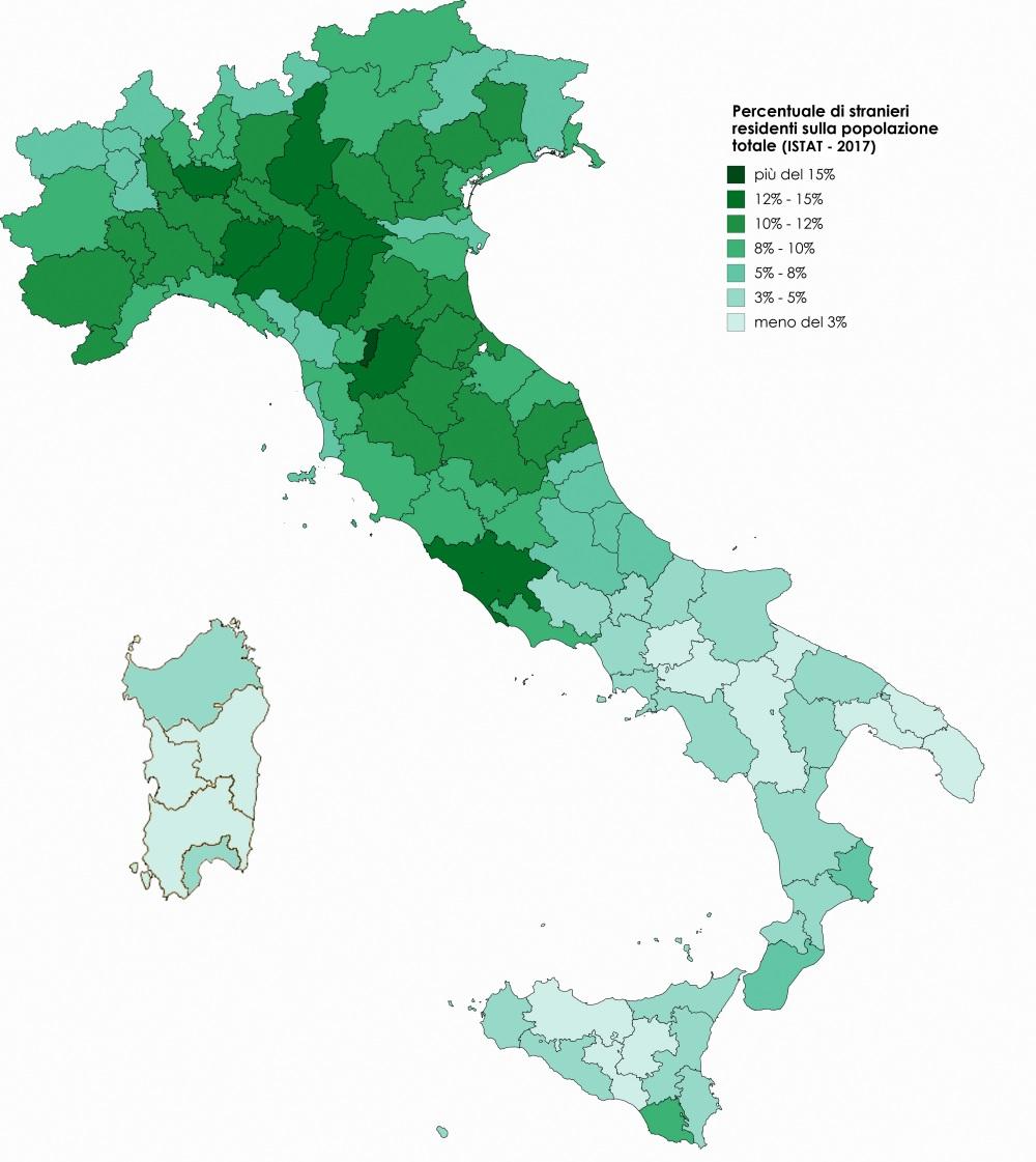 Percentuale di stranieri residenti sulla popolazione totale.jpg